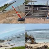 Exigen medidas contra erosión costera en San Andrés