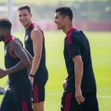 Cristiano Ronaldo se entrena por primera vez con el Manchester United
