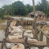 En Lorica reportan cierre de un boquete abierto por el río Sinú