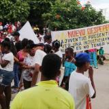 Habitantes de Tolú marchan por 'cura' para sus necesidades