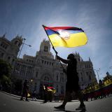 Protesta en Madrid contra la próxima visita de Iván Duque
