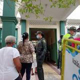 Policía invita a los habitantes de San Onofre a votar en paz y tranquilidad