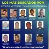 Policía revela el cartel de los 32 más buscados en Barranquilla