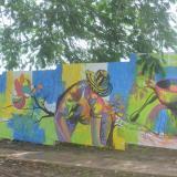 Los murales que le dan vida al sitio que habitó 'Cadena'
