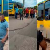 Autoridades investigan ataque a bus en medio de protesta