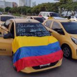 Caos en la movilidad de Cartagena por paro de taxistas
