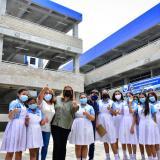 Estudiantes estrenan instalaciones del Instituto Técnico de Comercio