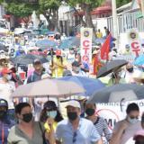 Marchas de centrales obreras en Barranquilla
