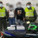 Capturan a dos presuntos extorsionistas en el barrio La Pradera