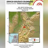 Sismo de 3.6 grados sacudió Colombia este jueves