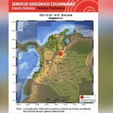 Fuerte sismo sacudió a Colombia este martes