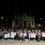 Comerciantes del Centro realizan 'Velatón' en la Plaza San Nicolás
