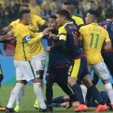 Neymar vs. Colombia: escenas de una rivalidad que suma siete años
