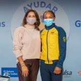 Entregan donación a la medallista olímpica Ingrit Valencia