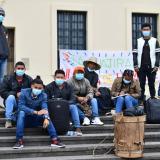Jóvenes guajiros en huelga de hambre ahora están en Bogotá
