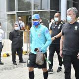 Encabezados por Neymar, Brasil partió a entrenamiento en el Romelio