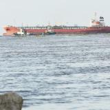 Restringen operaciones en el canal de acceso por buque encallado
