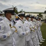 Grumetes juran bandera en la Escuela Naval de Suboficiales ARC Barranquilla