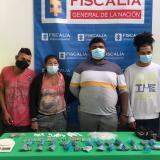 Capturan a cuatro presuntos expendedores de droga de 'los Costeños'