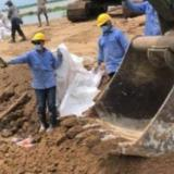 Ungrd desplega maquinaria amarilla para la emergencia en Salamina