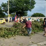 Bloquearon avenida en Valledupar por desbordamiento de aguas residuales