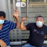 Trabajadores de obras viales de Sincelejo se encadenan para exigir pago