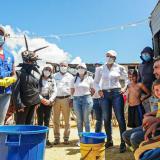 Intervienen zona de alto riesgo de infección por dengue en Riohacha