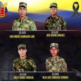 Estos son los soldados que murieron tras el ataque del Clan del Golfo