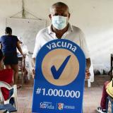 Líder comunitario de Soledad recibió la dosis 1 millón en el Atlántico