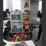 Así fue la visita de Marcela García a la sala de redacción de EL HERALDO