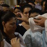 Costeños madrugan a ponerse la cruz de ceniza