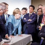 Los mejores meme que dejó el encuentro entre Merkel y Trump en la cumbre del G7