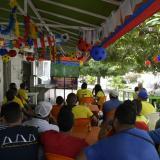 Fiesta en la Casa de la Selección tras clasificación de Colombia