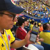'Samara-quilla' invadió el estadio Cosmos Arena para Colombia-Senegal
