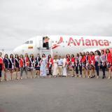 Llegada de candidatas al Concurso Nacional de Belleza en Cartagena