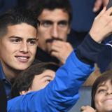 James y otras estrellas del fútbol en la final de la Copa Libertadores