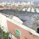 Así quedó el techo de Buenavista II luego del incendio