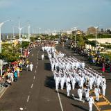 En imágenes | Barranquilla celebra el 20 de julio con desfile militar en el Gran Malecón