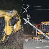 Colisionan bus intermunicipal y taxi 'zapatico' en la Vía al Mar: cinco heridos