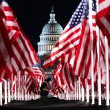Con 200 mil banderas se alista la ceremonia de la inauguración Biden-Harris