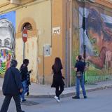 Festival de murales callejeros en Stornara, Italia