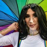 Imágenes de la comunidad  LGBTI+ marchando en Barranquilla