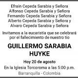 GUILLERMO SARABIA HUYKE