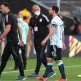 La interrupción del partido Brasil vs. Argentina en imágenes