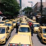 En video | Así se vio el paro de taxistas en Barranquilla