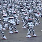 1.069 robots se unen en China para una 'misión especial'