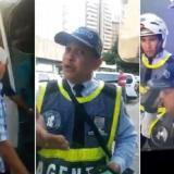 En video | El agente de tránsito que le hizo 'marcación estricta' al Junior