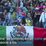 Mexicanos desfilan como 'Catrinas' antes del Día de los Muertos