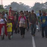 Los niños, la cara más dura de la caravana de migrantes