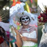 Catrinas, flores y colores en el desfile del Día de los Muertos